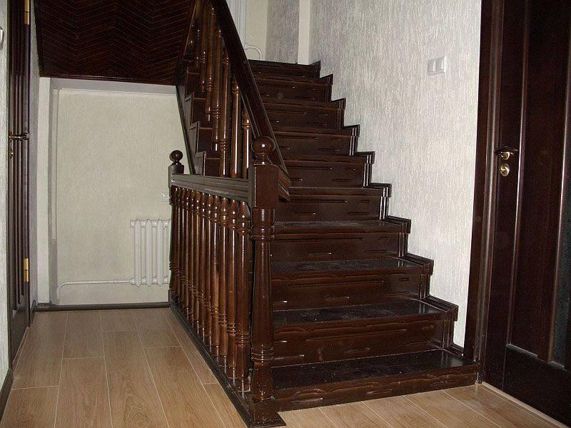 Отделка лестницы своими руками