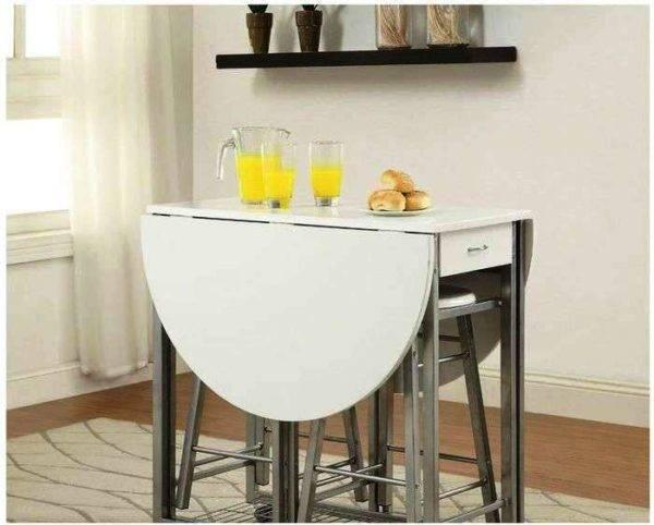 Раскладной кухонный стол: устройство и разновидности