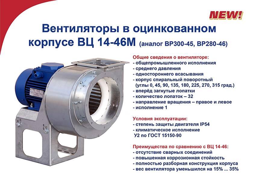 Характеристики центробежных вентиляторов, применение в строительстве
