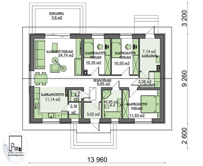 Одноэтажный дом с мансардой (64 фото): красивые планы кирпичных домов 10 на 8, планировка частных построек
