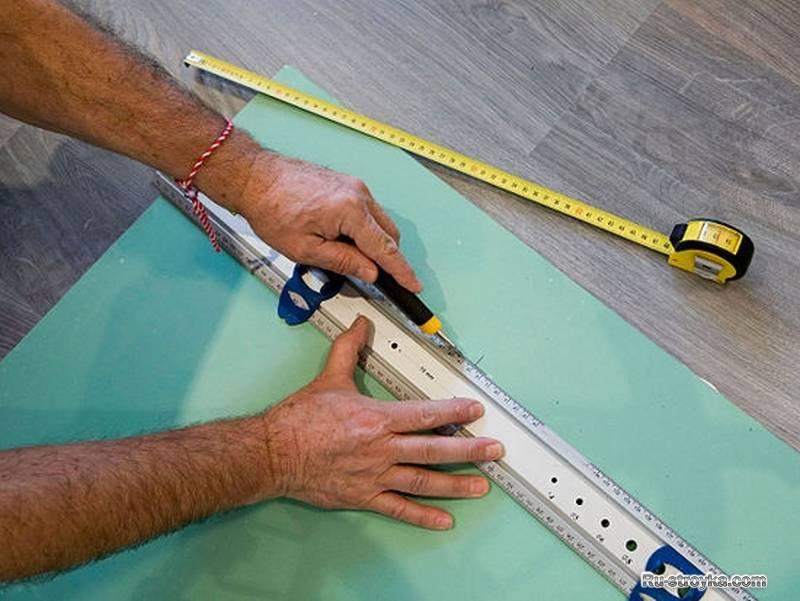 Как резать гипсокартон в домашних условиях: способы резки + инструктаж по проведению работ