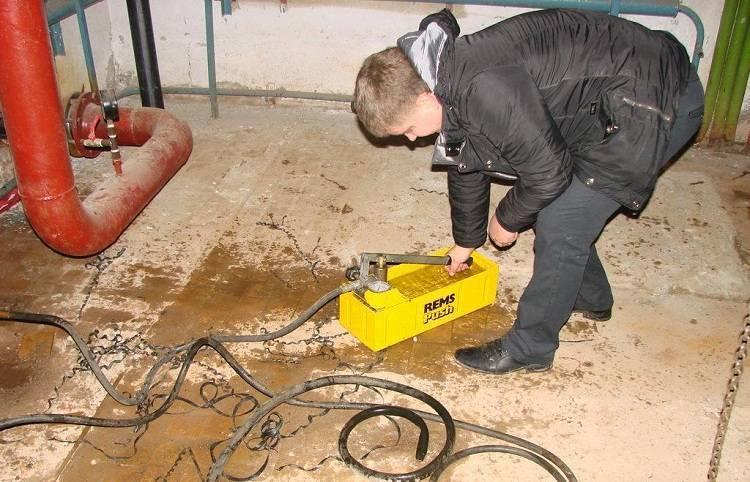 Гидравлические испытания пожарного водопровода - пожарная безопасность