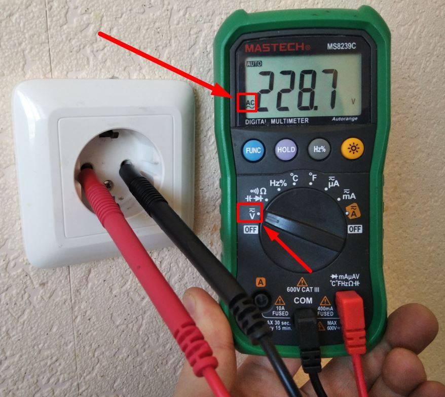 Как измерить напряжение в розетке мультиметром - всё о электрике в доме