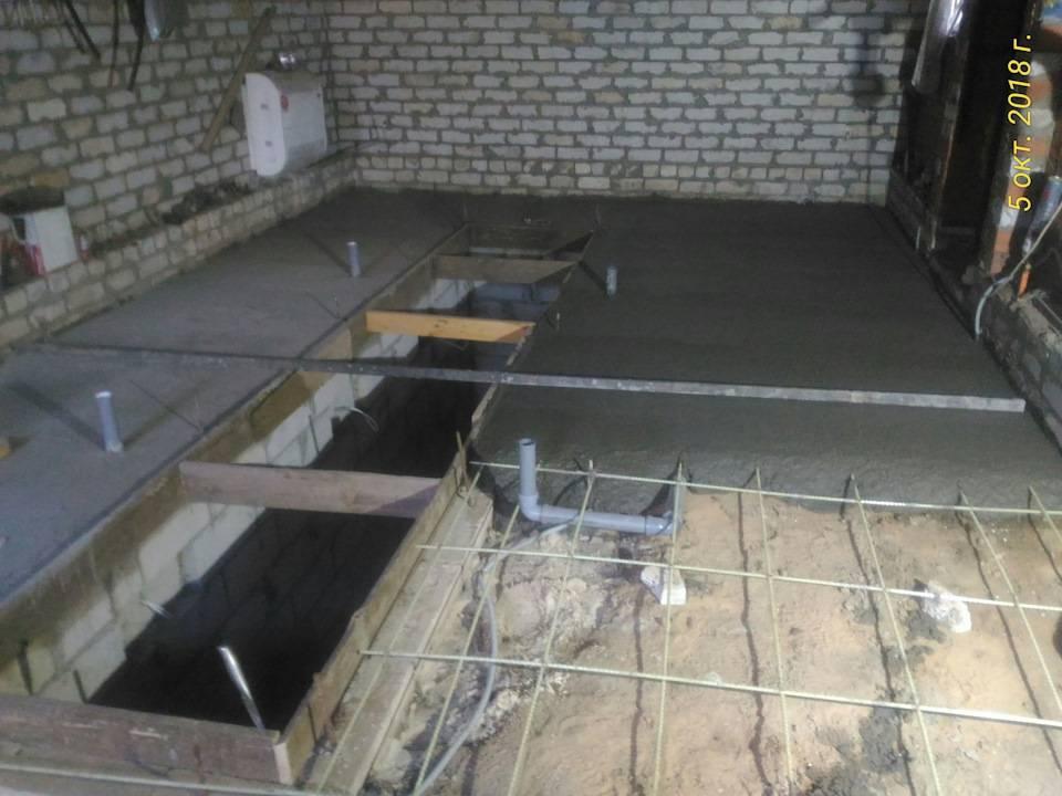 Как сделать полы в гараже из бетона или дерева