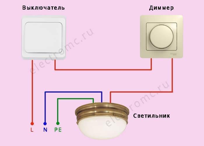 Схемы подключения диммера в квартире | ehto.ru