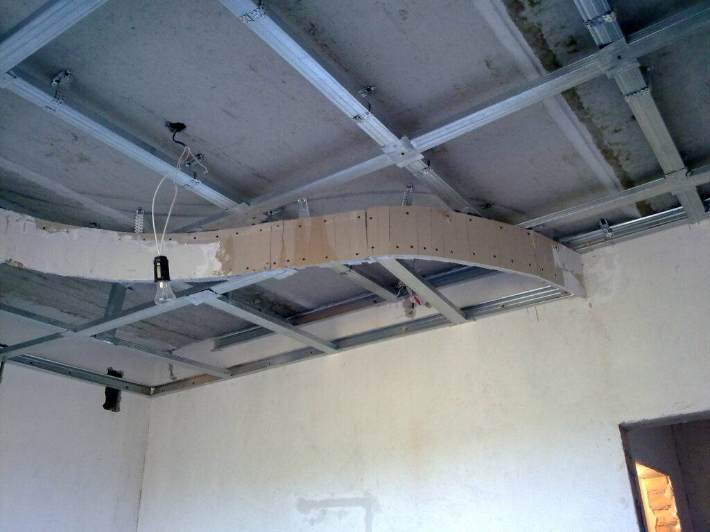 Двухуровневый потолок с подсветкой: многоуровневый потолок из гипсокартона, двойной потолок своими руками, чертеж двухъярусного потолка