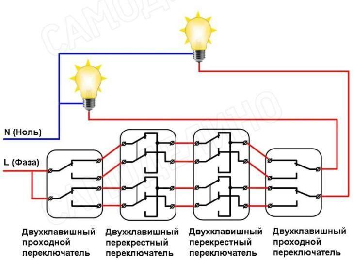 Проходной выключатель – назначение, схема подключения и принцип работы (100 фото)