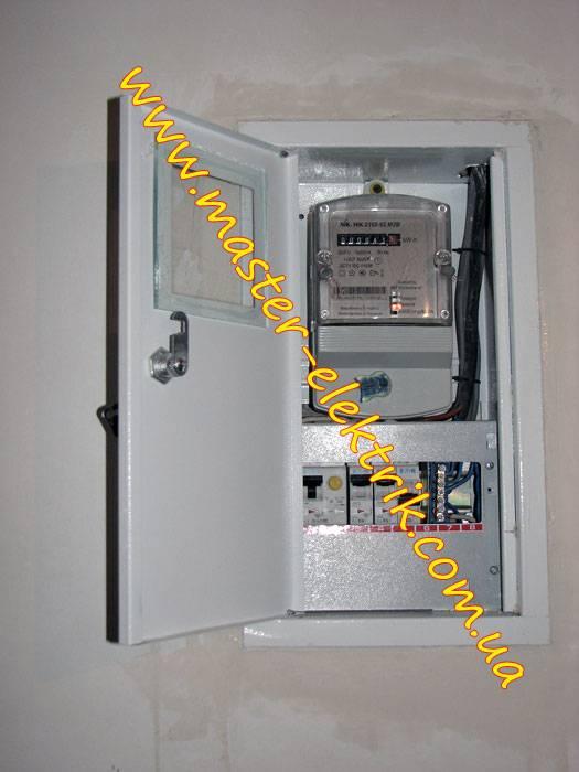 Электрический щиток под счётчик и автоматы: выбор и установка встраиваемых и наружных распределительных боксов