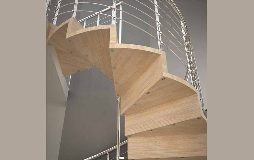 Расчет винтовой лестницы на второй этаж с примером, чертеж и размеры