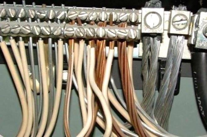 Медная и алюминиевая проводка