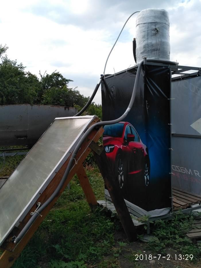 Летний душ своими руками с солнечным коллектором: пошаговые фото инструкции монтажа