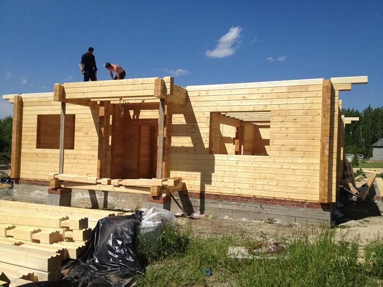 Дом из бруса своими руками: пошаговое строительство