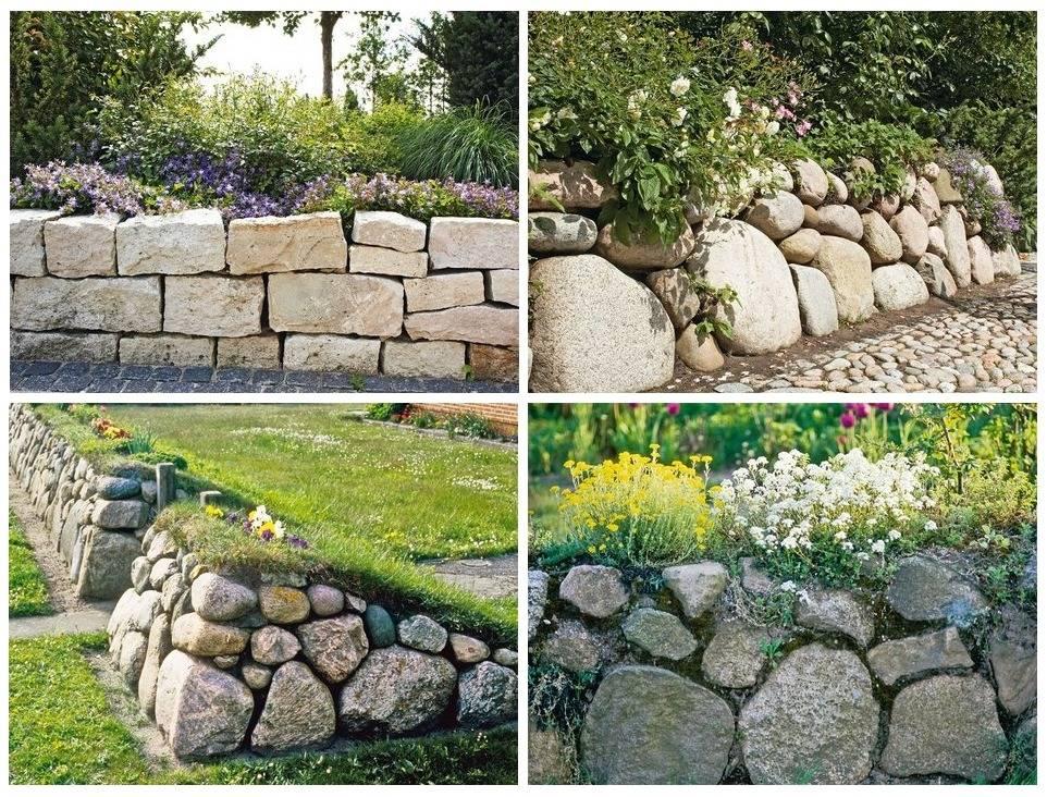 Как построить забор из природного камня своими руками