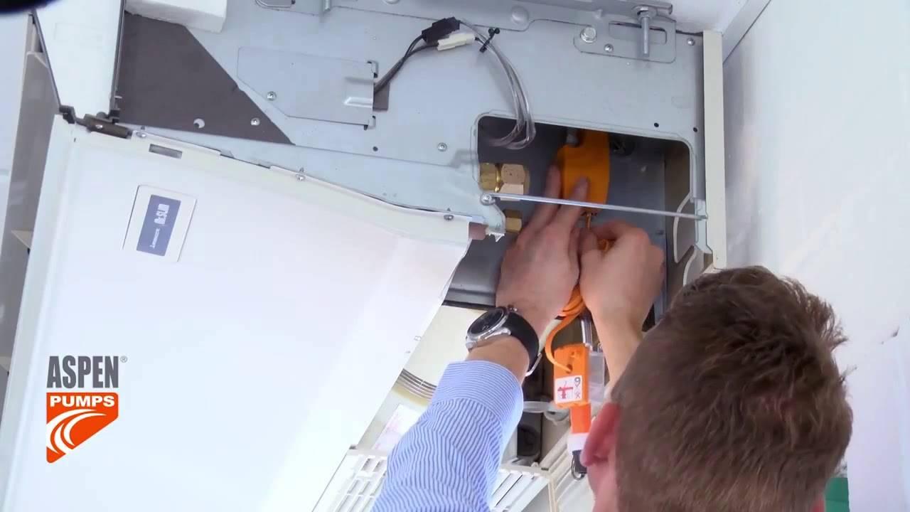 Обслуживание помпы кондиционера: замена, монтаж