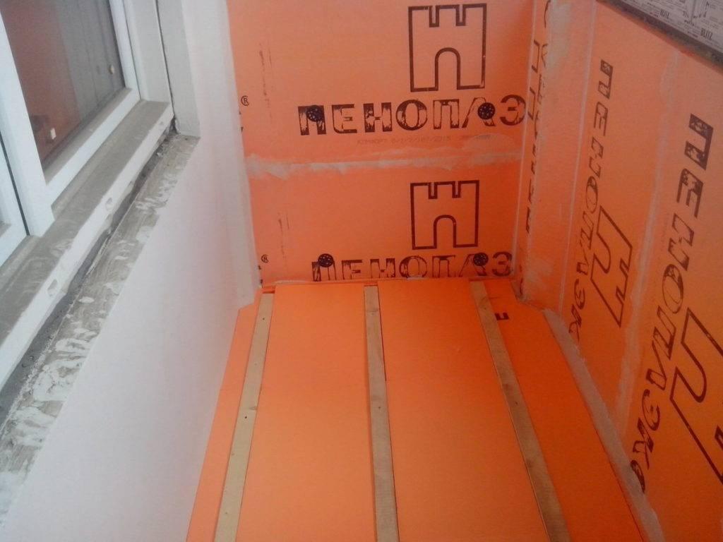 Утепление балкона (лоджии) пеноплексом: технология и этапы работ своими руками