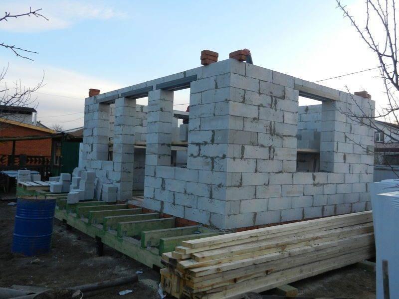Свайный фундамент для газобетонного дома