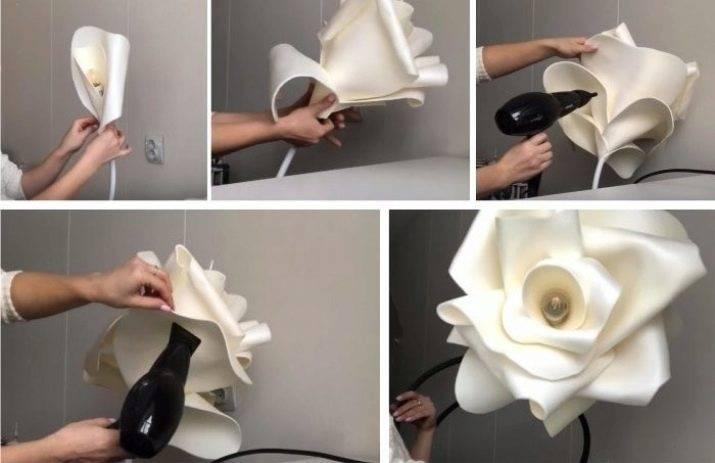 Как сделать цветы-светильники из изолона своими руками?