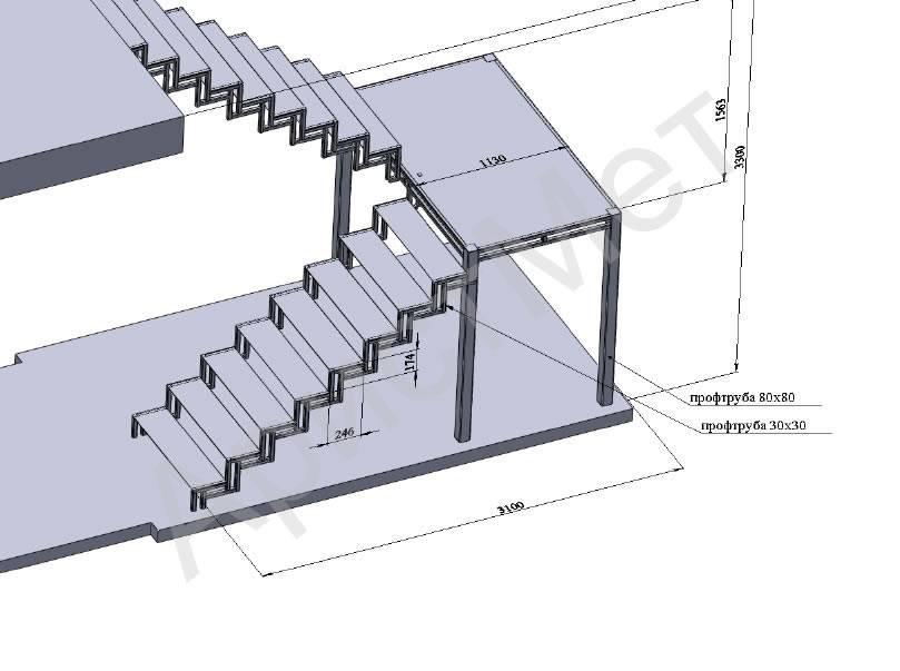 Лестницы из профильной трубы: преимущества и технология сборки