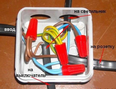 Разводка проводов в распределительных коробках