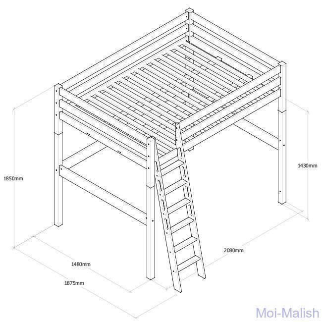 Кровать-чердак своими руками, выбор модели, необходимые инструменты