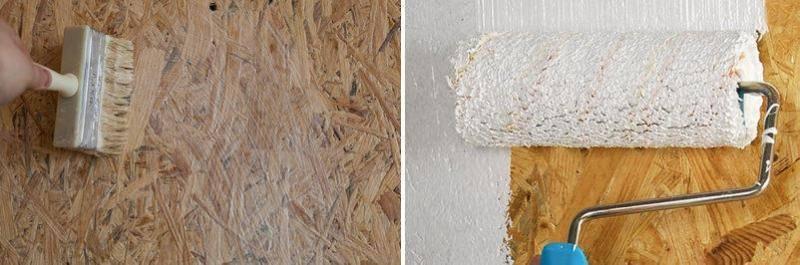 Чем и как покрасить осб внутри помещения?
