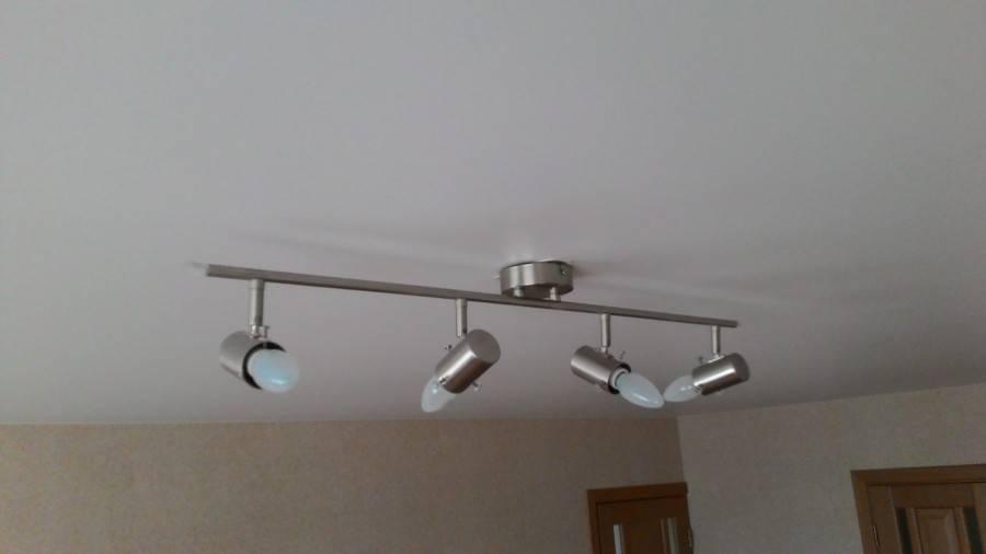Крепление люстры на натяжной потолок - этапы монтажа