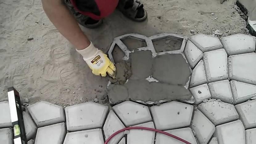 Технология изготовления тротуарной плитки в домашних условиях