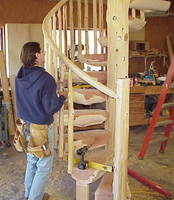 Лестница своими руками из дерева винтовая – легкость и компактность