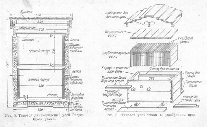 Ульи из фанеры и пенопласта: чертежи, изготовление своими руками