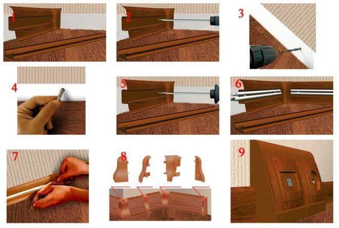 Как прикрепить плинтус к полу: инструкция для всех типов планок