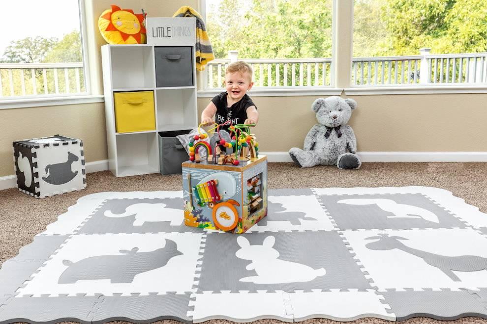 Напольное покрытие для детской комнаты (16 фото интерьеров): гид по выбору