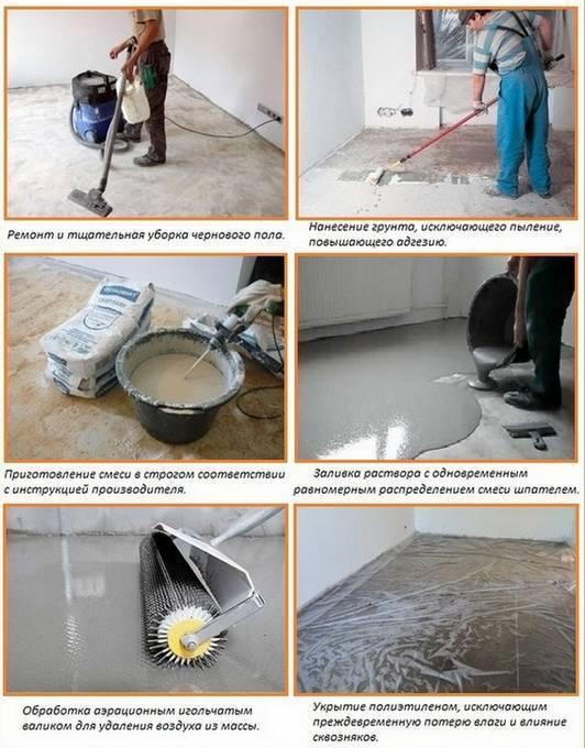 Как правильно заливать наливной пол своими руками в квартире