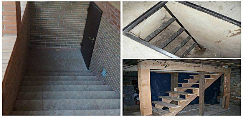 Лестница из дерева в подвал гаража своими руками: чертежи, схемы, этапы изготовления