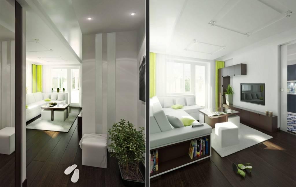 Перепланировка однокомнатной квартиры в двухкомнатную: правила и примеры, фото удачных дизайнов