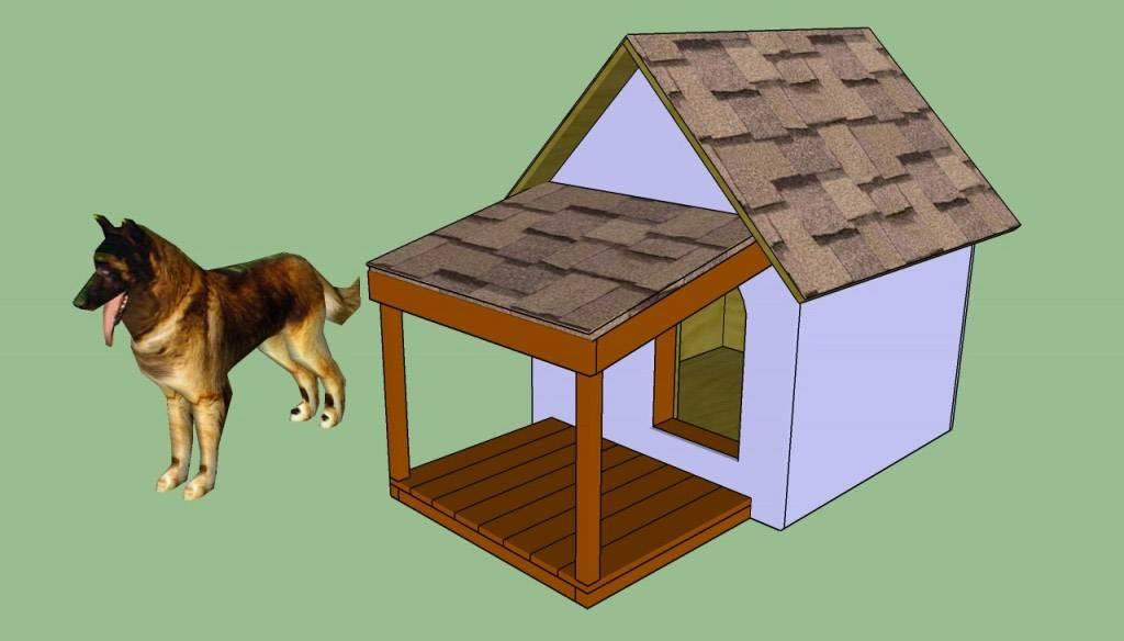 Как построить самую простую будку для собаки своими руками