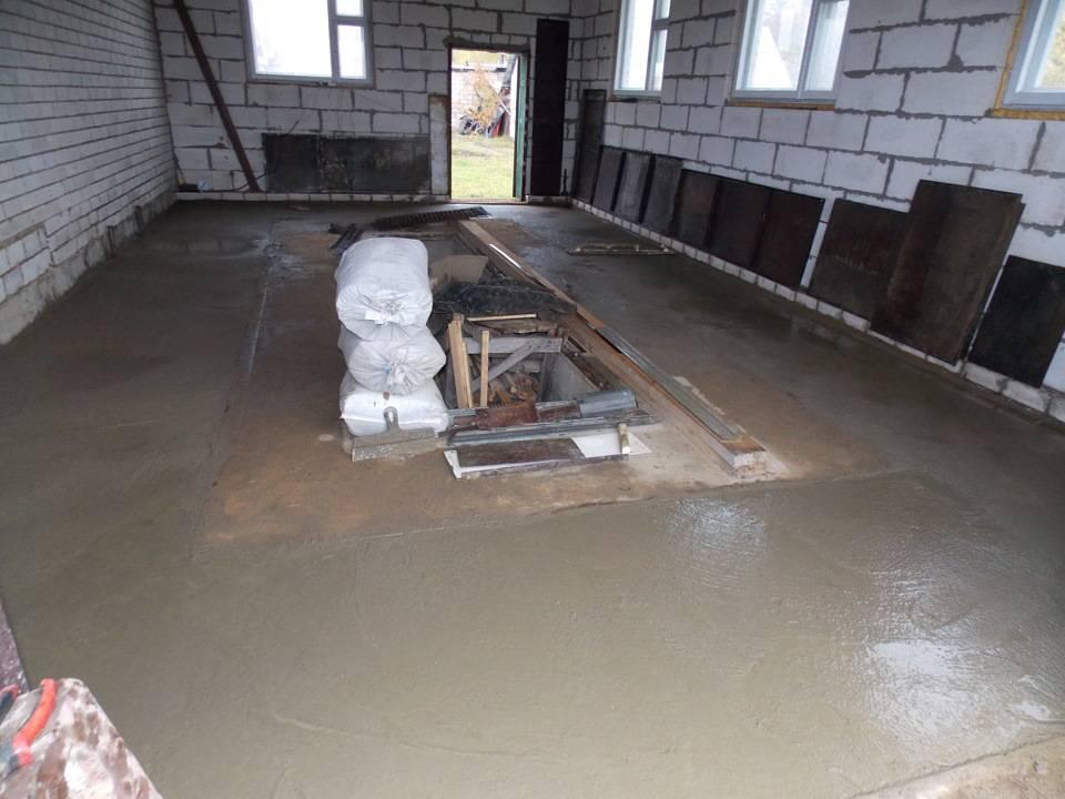 Как правильно залить пол в гараже?