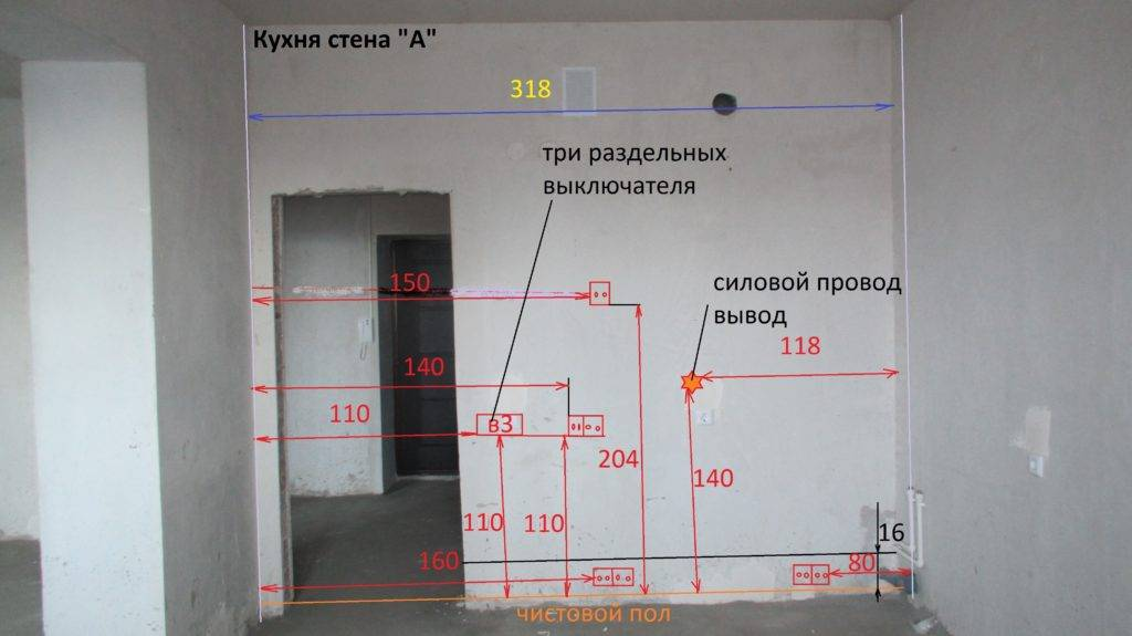 Высота установки выключателей и розеток в квартире: сколько сантиметров от пола