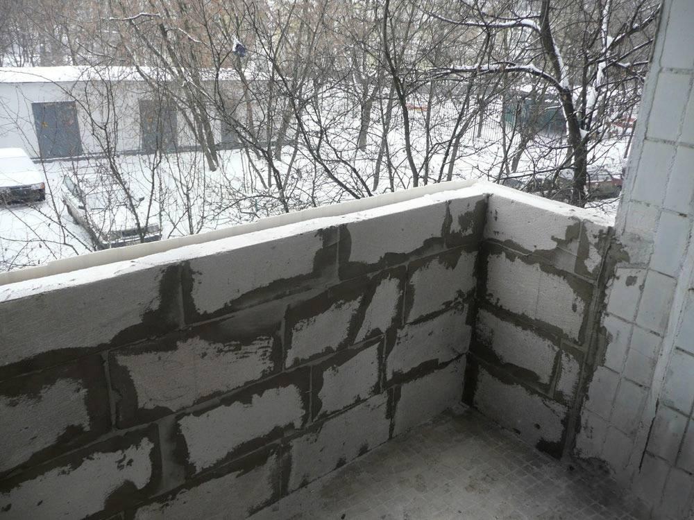 Балкон из пеноблоков, из газоблоков: какими блоками лучше выложить лоджию