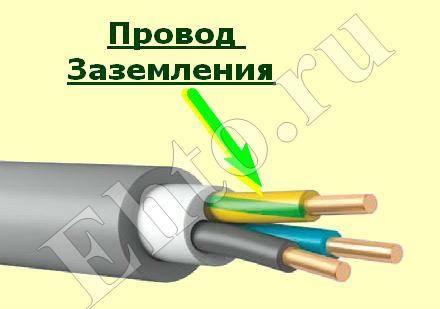 Как определить заземляющий провод в трехжильном проводе - moy-instrument.ru - обзор инструмента и техники