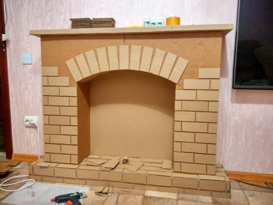 Как построить декоративный камин своими руками, из чего фальш-камин сделать