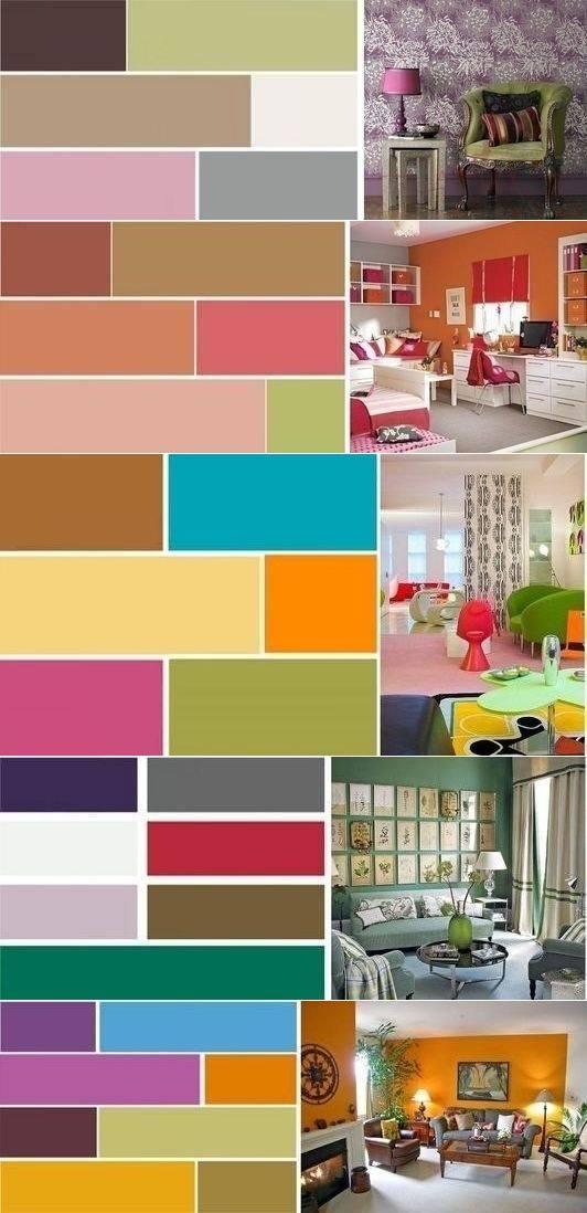 Сочетание цветов винтерьере: таблицы комбинаций оттенков и100+ идеальных палитр для дизайна