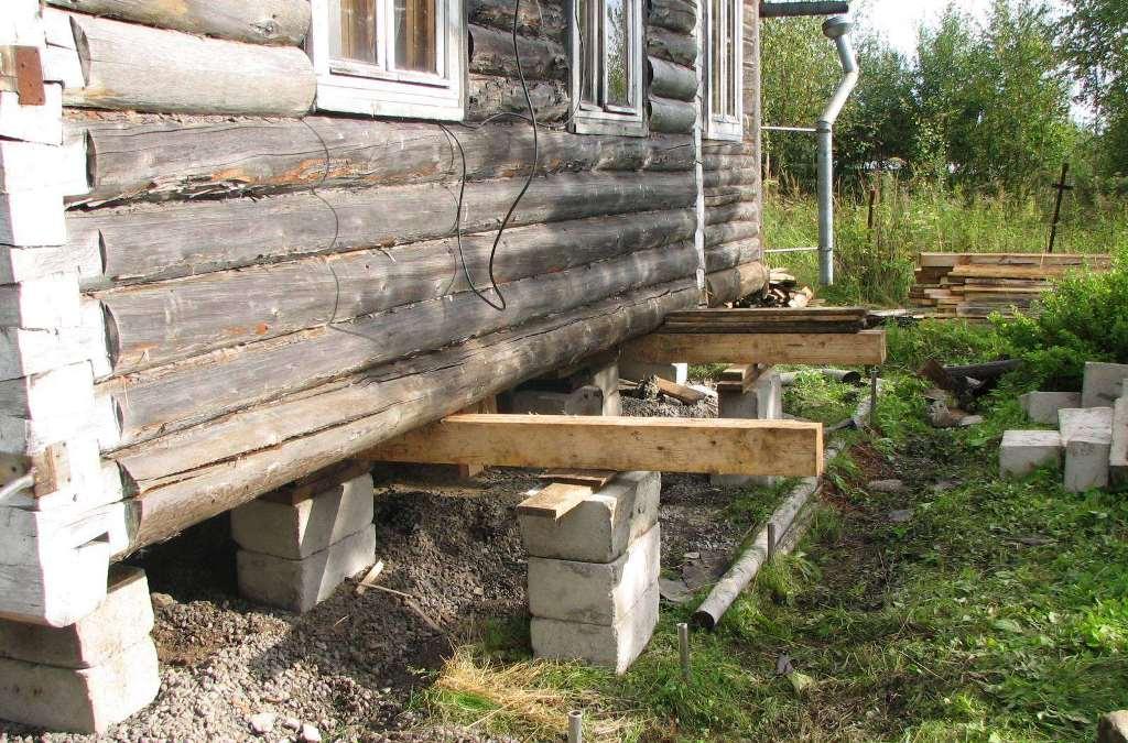 Поднять дом и залить фундамент: подготовительные работы, технология подъема дома