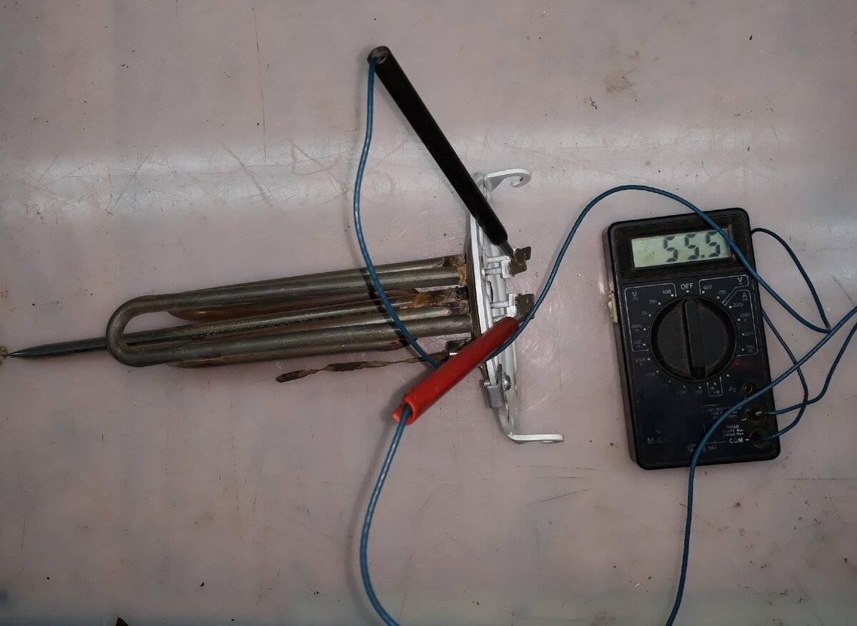Проверка водонагревателя (тэна) от стиральной машины