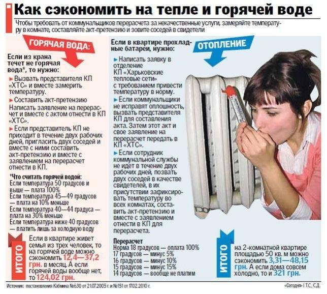 Какой температуры должна быть вода в системе горячего водоснабжения