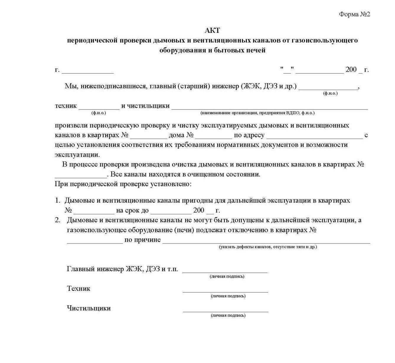 Акт санитарно-эпидемиологического обследования системы вентиляции (кондиционирования) воздуха - образец 2021