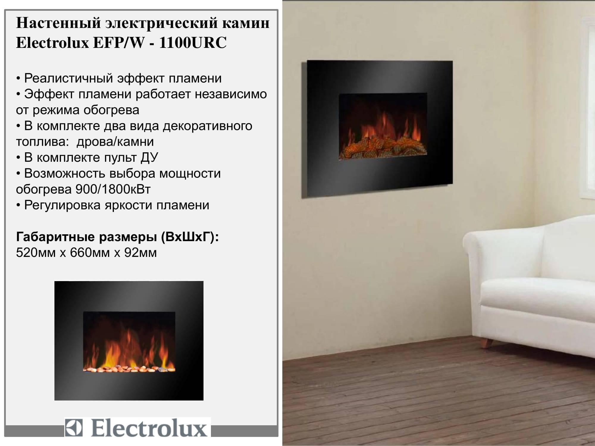 Подробные характеристики камина электролюкс - iqelectro.ru