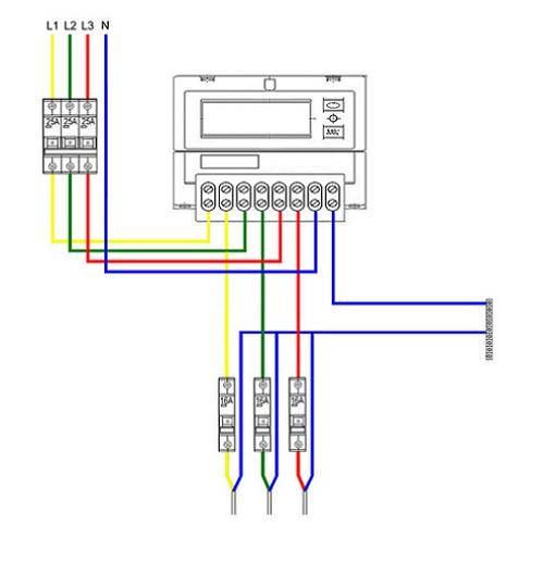 Схема подключения трехфазного электросчетчика к сети   элсис24