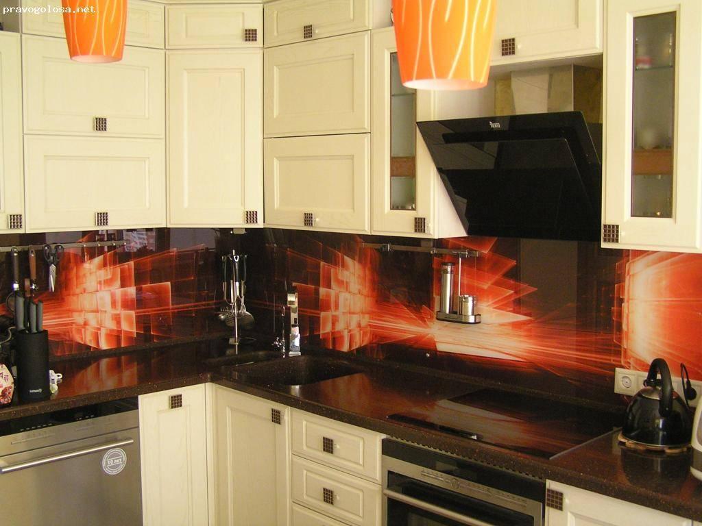 Фартуки для кухни из стекла с фотопечатью (52 фото): кухонный стеклянный фартук из закаленного стекла