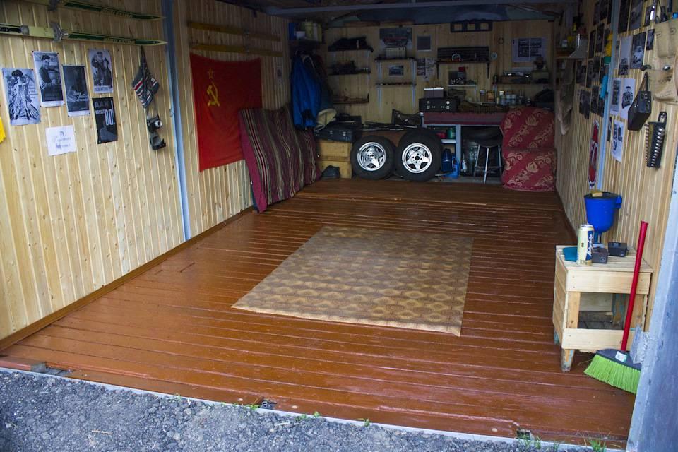 Пол в гараже — варианты покрытия