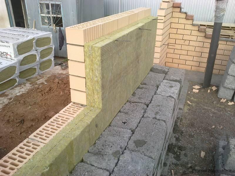 Силикатный кирпич для постройки частного дома. технология утепления кирпичной стены снаружи + выбор оптимальной теплоизоляции